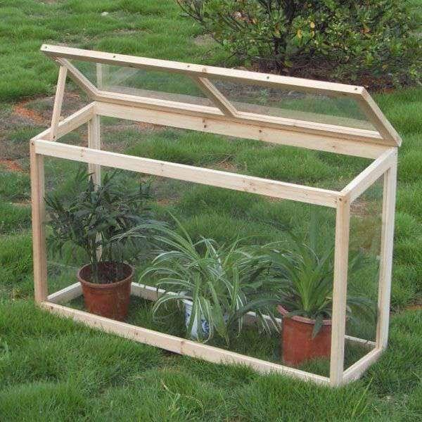 Invernadero de madera para huerto y jard n de 60x30x100cm - Arcos de madera para jardin ...