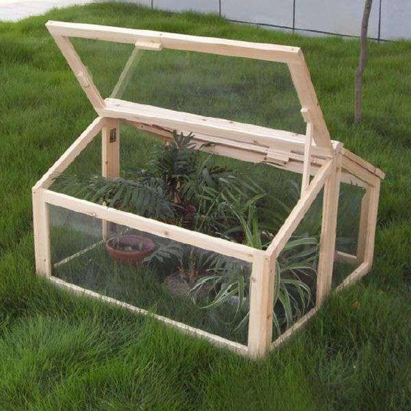 Invernadero madera tipo casita para huerto y jard n de for Jardin vertical de fieltro en formato kit