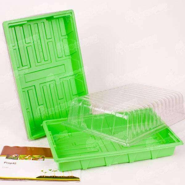 3 mini invernaderos germinador 38x24x13 5cm solo 10 5 en for Jardin vertical de fieltro en formato kit
