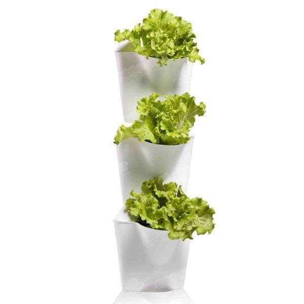 Jardin vertical minigarden corner blanco en cocopot huerto for Jardin vertical de fieltro en formato kit