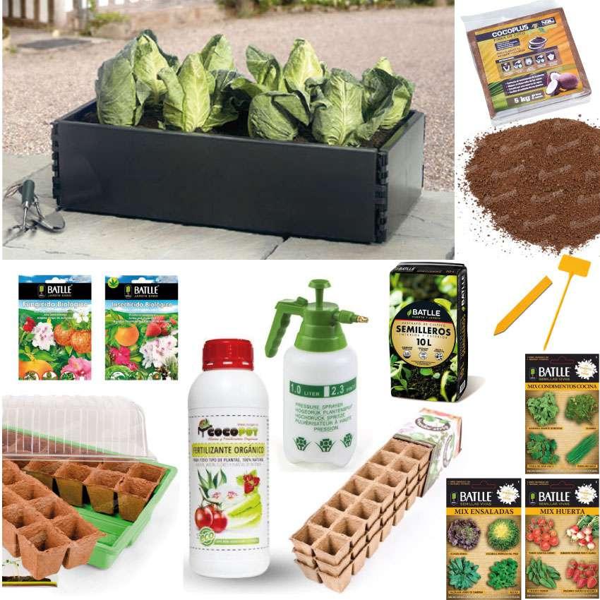 Kit huerto elevado f cil y c modo al mejor precio en cocopot for Jardin vertical de fieltro en formato kit