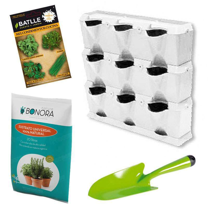 Kit culinarias minigarden en cocopot huerto y jard n for Jardin vertical de fieltro en formato kit
