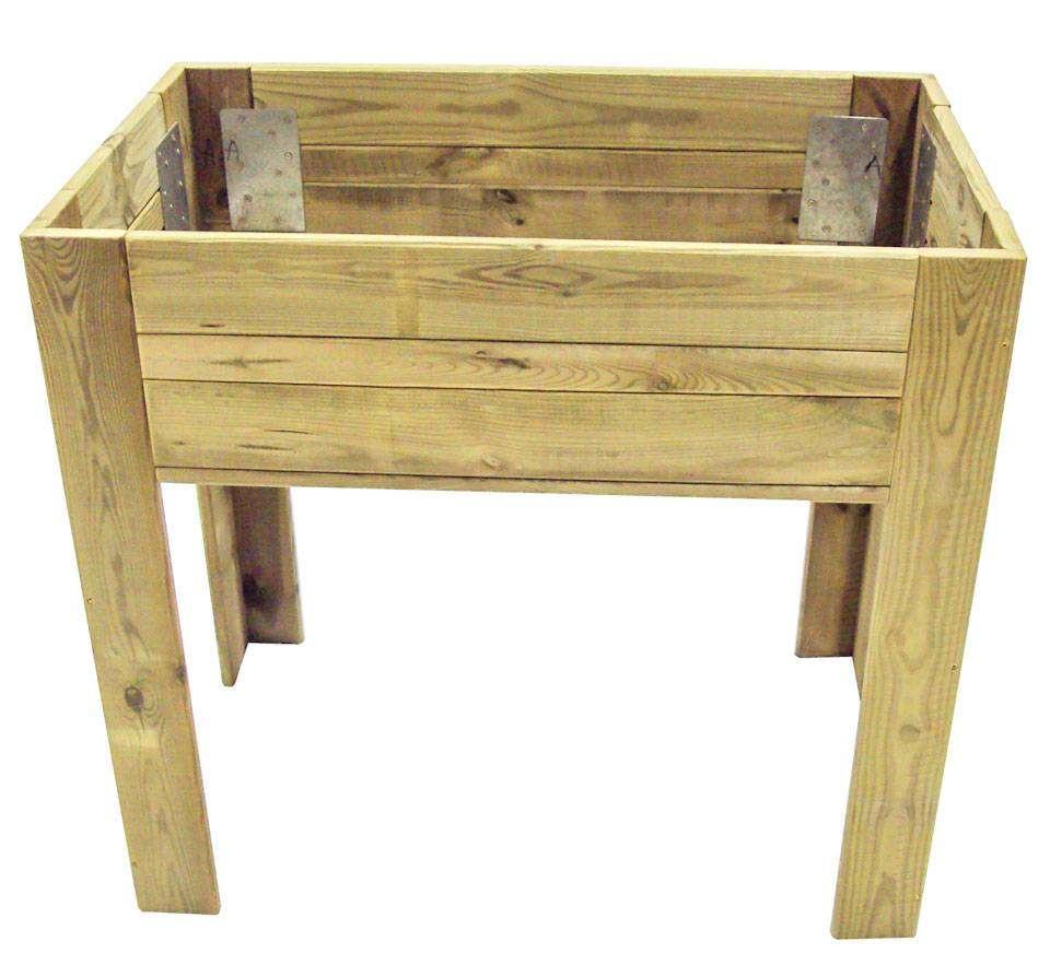 Huerto urbano madera con sustrato oferta en cocopot huerto for Jardin vertical de fieltro en formato kit