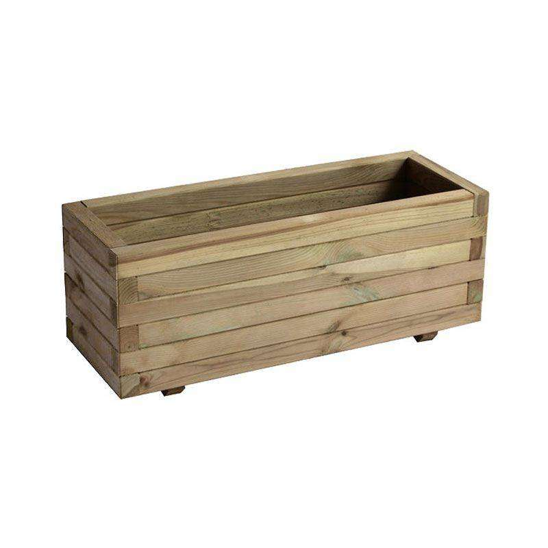 Jardinera rectangular madera fsc 60x60x30cm por 35 en cocopot for Jardinera de madera vertical