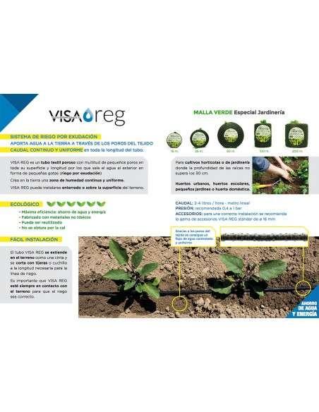 150x75 cm Kit Riego Exudante Mesa Cultivo 4 vías COCOPOT - 2