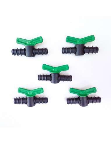 Pack 5u. Válvula 16mm. para tubería Riego Goteo Polietileno COCOPOT - 4
