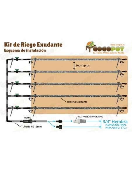 Pack 5u. Válvula 16mm. para tubería Riego Goteo Polietileno COCOPOT - 12