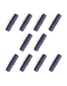 Pack 10u. Manguitos Unión de 16mm. para tubería Riego Goteo Polietileno