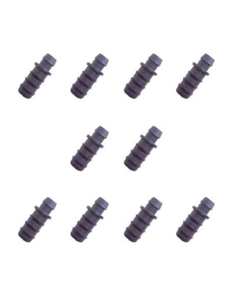 Pack 10u. Toma Simple de 7x16mm. para tubería Riego Goteo Polietileno COCOPOT - 1