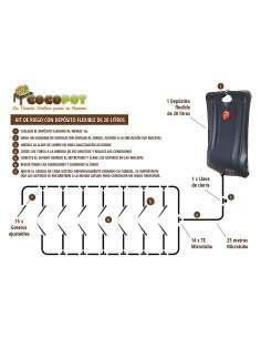 Kit Riego Automático con Depósito 20 litros COCOPOT - 1