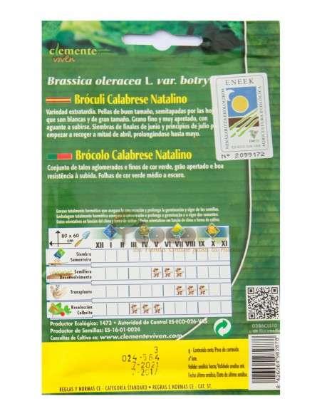 Semillas Ecológicas Bróculi Calabrese 3g. Brócoli Semillas Clemente Viven - 2