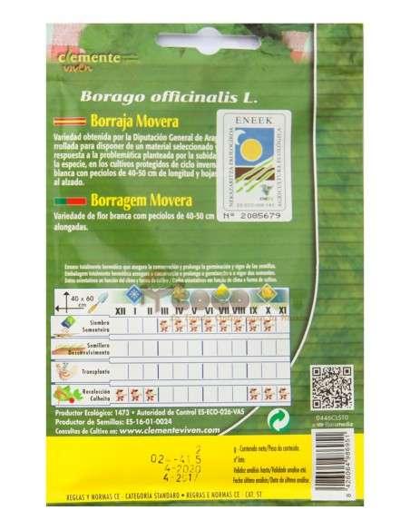 Semillas Ecológicas Borraja Movera 2g. Semillas Clemente Viven - 2