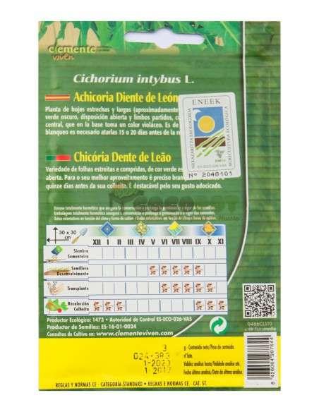 Semillas Ecológicas Achicoria Diente León 3g Semillas Clemente Viven - 2