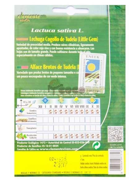 Semillas Ecológicas Lechuga Cogollo de Tudela 2g Semillas Clemente Viven - 2