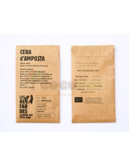 Semillas Ecológicas Cebolla de Amposta LES REFARDES - 2