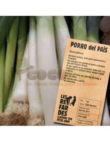 Semillas Ecológicas Puerro del País LES REFARDES - 1