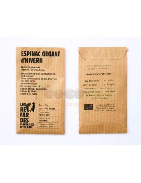 Semillas Ecológicas Espinaca Gigante de Invierno LES REFARDES - 2