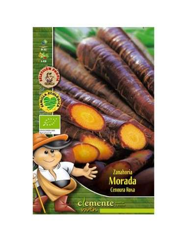 Semillas Ecológicas Zanahoria Morada 4g Semillas Clemente Viven - 1