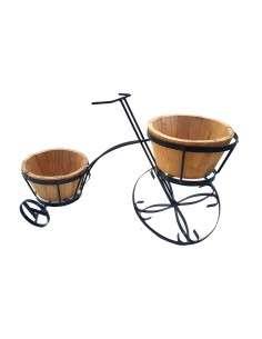 Macetero decorativo Triciclo rústico