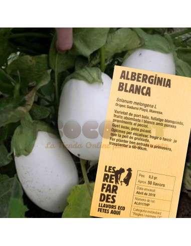 Semillas Ecológicas de Berenjena Blanca LES REFARDES - 1