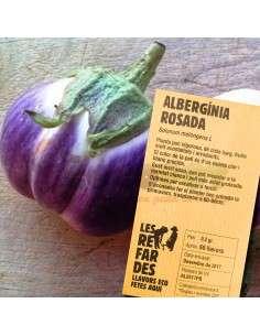 Semillas Ecológicas de Berenjena Rosada LES REFARDES - 1