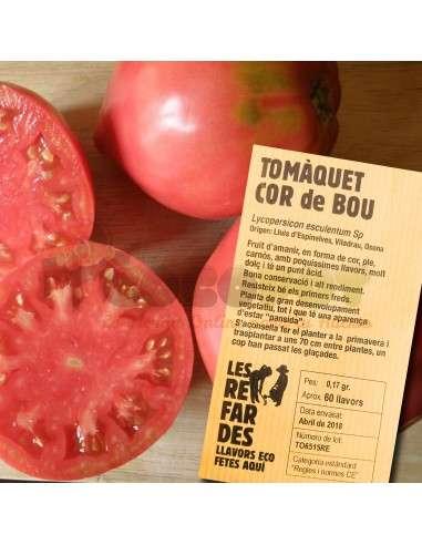 Semillas Ecológicas Tomate Corazón de Toro LES REFARDES - 1