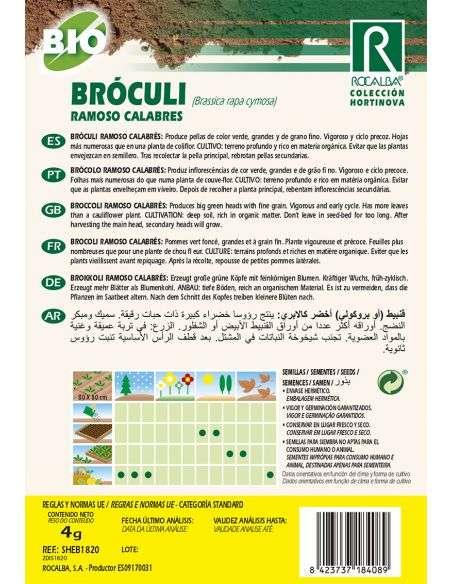 Semillas Ecológicas Bróculi Ramoso Calabres Brócoli Rocalba - 2