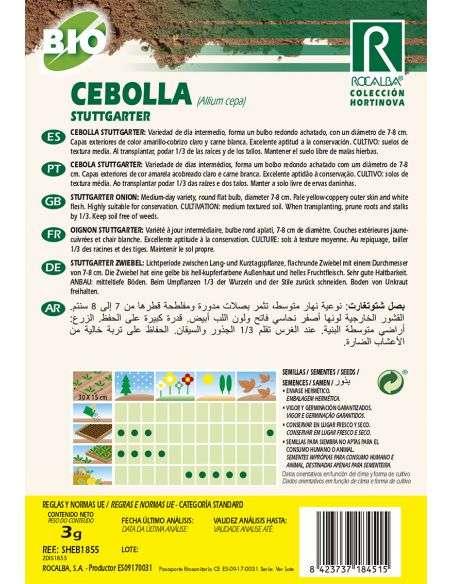Semillas Ecológicas de Cebolla Stuttgarter Rocalba - 2
