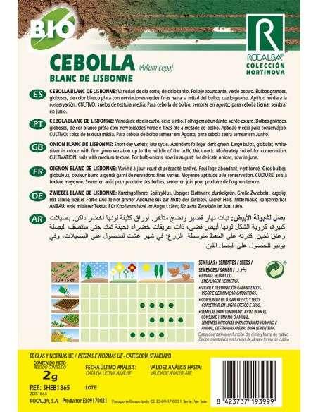 Semillas Ecológicas de Cebolla Blanc de Lisbonne Rocalba - 2