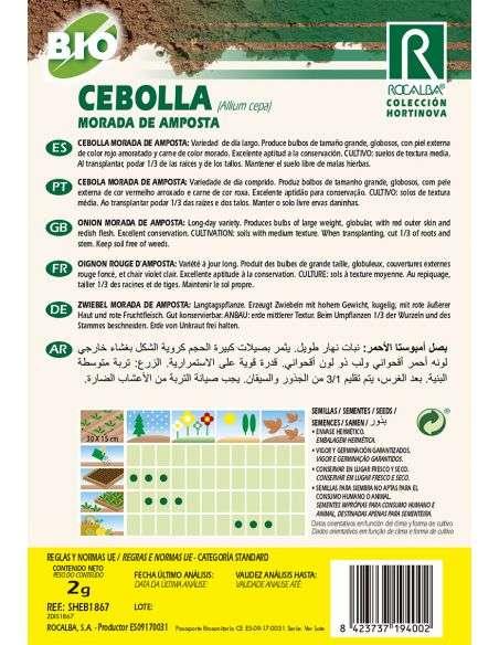 Semillas Ecológicas de Cebolla Morada de Amposta Rocalba - 2