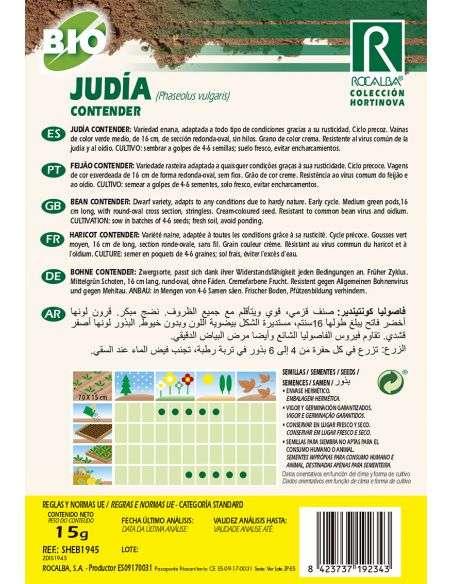 Semillas Ecológicas de Judía Contender Rocalba - 2