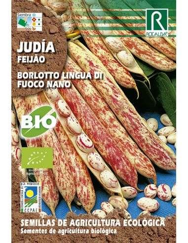 Semillas Ecológicas de Judía Borlotto Lingua de Fuoco Nano Rocalba - 1