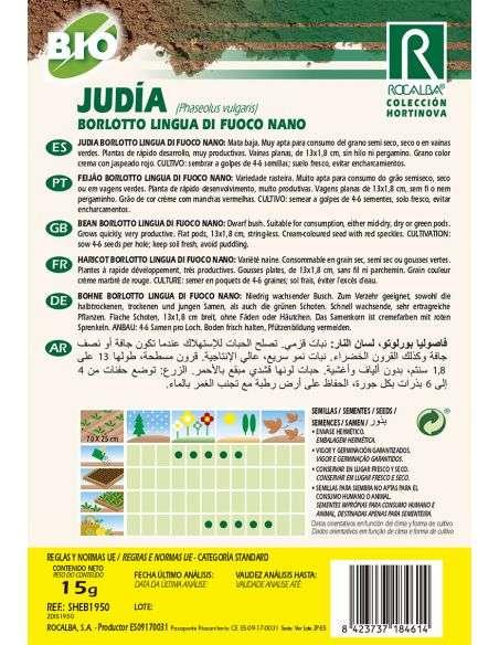 Semillas Ecológicas de Judía Borlotto Lingua de Fuoco Nano Rocalba - 2