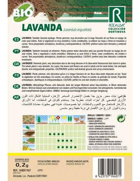 Semillas Ecológicas de Lavanda Rocalba - 2