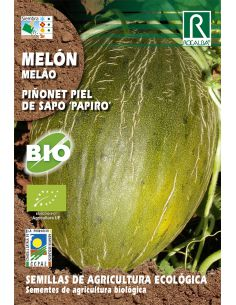 """Semillas Ecológicas de Melón Piñonet Piel de Sapo """"Papiro"""" Rocalba - 1"""