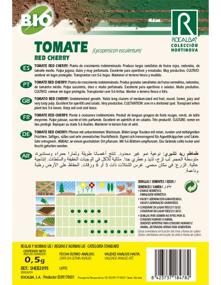 Semillas Ecológicas de Tomate Red Cherry Rocalba - 2