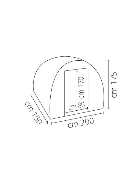 Invernadero Profesional 200x150x175 cm