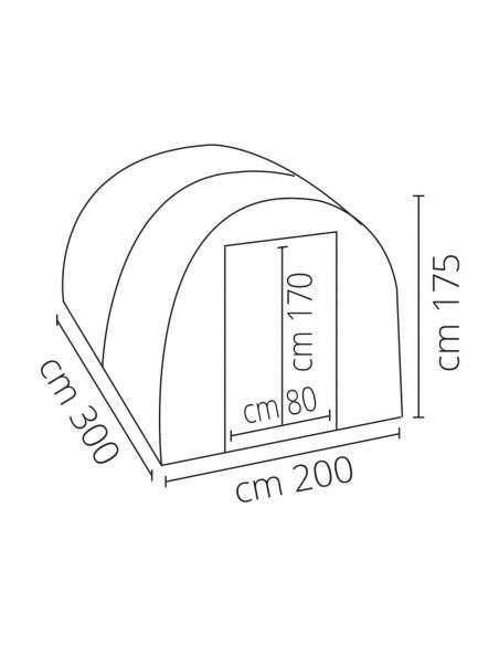 Invernadero Profesional 200x300x175 cm