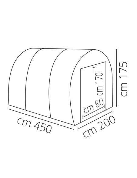 Invernadero Profesional 200x450x175 cm