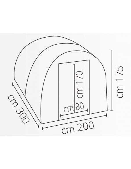 Invernadero Profesional 300x200x175 cm