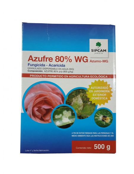 Azufre 80% WG 500g Fungicida - Acaricida