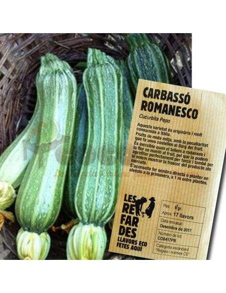 Semillas Ecológicas de Calabacín Romanesco