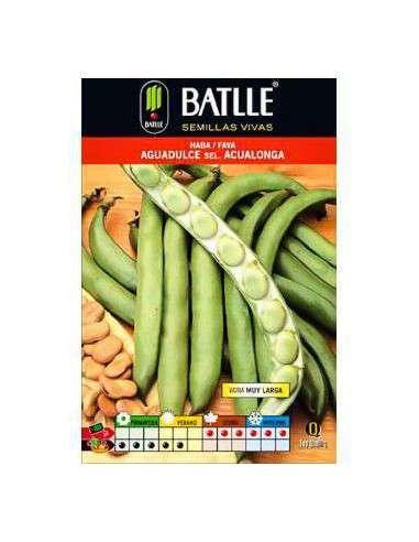 Semillas de Haba Aguadulce Acualonga 250gr. Semillas Batlle - 1