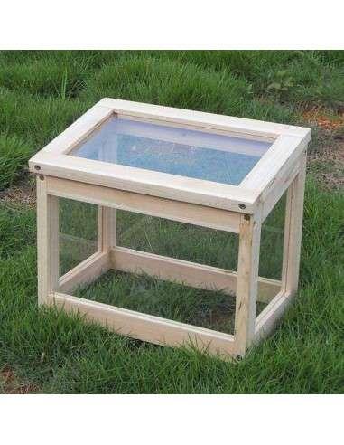 Mini Invernadero madera 30x20x25cm.