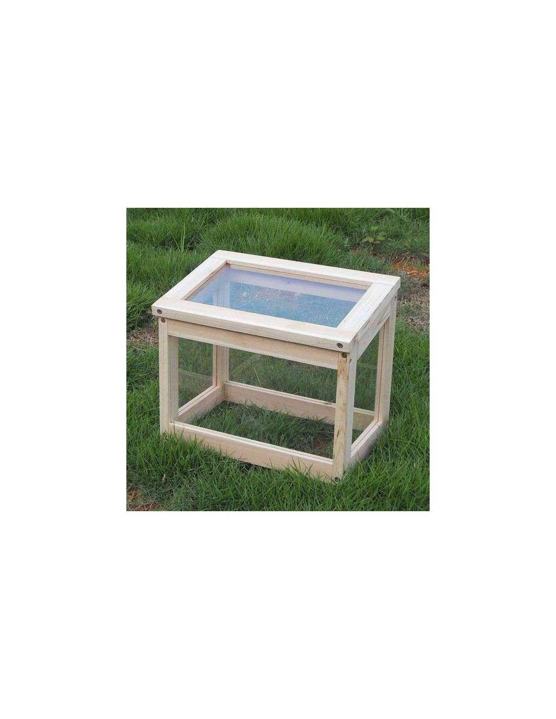 Mini invernadero de madera para huerto y jard n de 30x20x25cm - Mini invernadero casero ...
