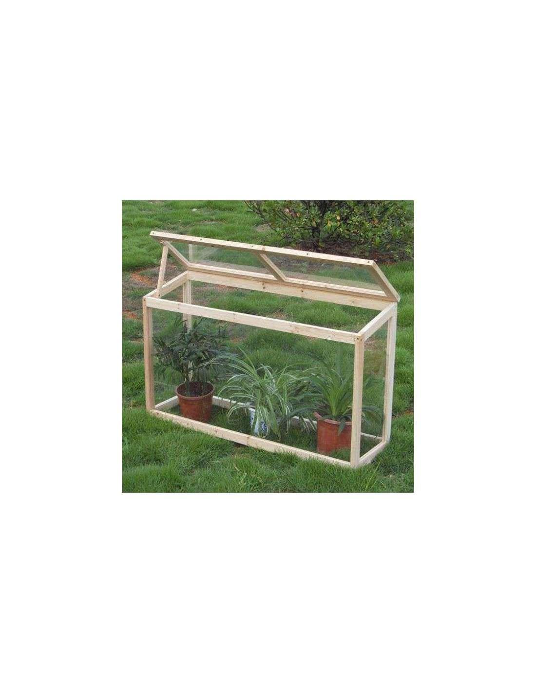 Invernadero de madera para huerto y jard n de 60x30x100cm for Bordillos de plastico para jardin