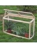 Invernadero de madera 60x30x100cm.