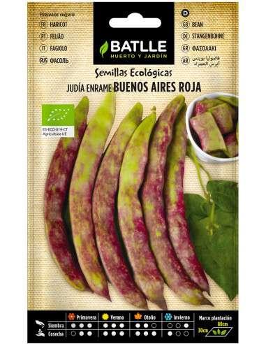 15 g // 30-35 semillas seeds Eco Ecologica Judia Judía Enana Roma Ecológica