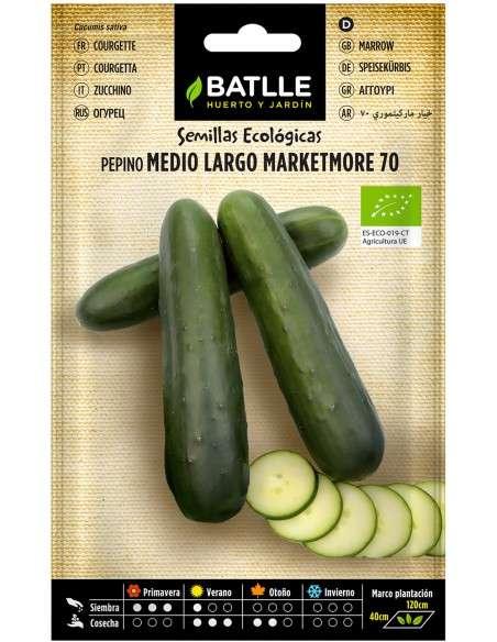 Semillas de Pepino Marketmore 70 Ecológicas