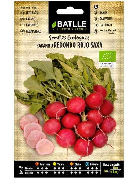 Semillas de Rabanito Redondo rojo Saxa Ecológicas